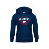 Youth Navy Fleece Hoodie-Jaguars Basketball In Ball