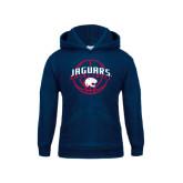 Youth Navy Fleece Hood-Jaguars Basketball In Ball