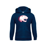 Youth Navy Fleece Hoodie-Jag Head