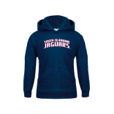 Youth Navy Fleece Hood-South Alabama Jaguars Arched