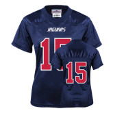 Ladies Navy Replica Football Jersey-#15