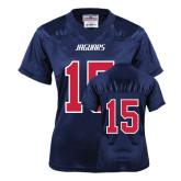 Ladies Navy Replica Football Jersey-#15