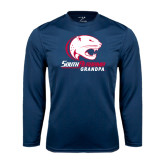 Syntrel Performance Navy Longsleeve Shirt-Grandpa