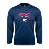Performance Navy Longsleeve Shirt-Jaguars Football In Ball