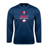Performance Navy Longsleeve Shirt-Jags Football Tall