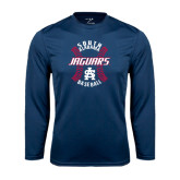 Syntrel Performance Navy Longsleeve Shirt-Jaguars Baseball Seams