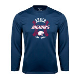 Performance Navy Longsleeve Shirt-Jaguars Softball Seams