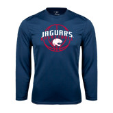 Syntrel Performance Navy Longsleeve Shirt-Jaguars Basketball In Ball