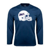Performance Navy Longsleeve Shirt-Jags Helmet