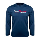 Syntrel Performance Navy Longsleeve Shirt-South Alabama Jaguars