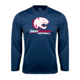 Syntrel Performance Navy Longsleeve Shirt-Softball