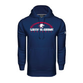 Under Armour Navy Performance Sweats Team Hoodie-South Alabama Football Arched