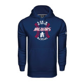 Under Armour Navy Performance Sweats Team Hoodie-Jaguars Baseball Seams