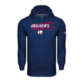 Under Armour Navy Performance Sweats Team Hood-Jaguars Baseball Flying Ball