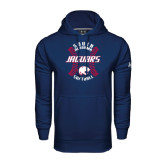 Under Armour Navy Performance Sweats Team Hoodie-Jaguars Softball Seams