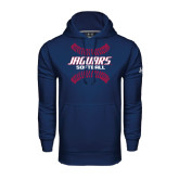 Under Armour Navy Performance Sweats Team Hoodie-Jaguars Softball Seams Horizontal