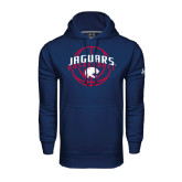 Under Armour Navy Performance Sweats Team Hoodie-Jaguars Basketball In Ball