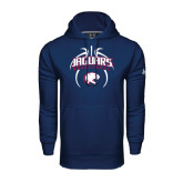 Under Armour Navy Performance Sweats Team Hoodie-Jaguars Basketball Arched In Ball