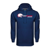 Under Armour Navy Performance Sweats Team Hoodie-Jaguar Head w/ Flat Logo