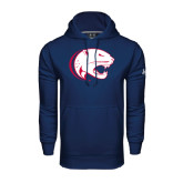 Under Armour Navy Performance Sweats Team Hoodie-Jag Head