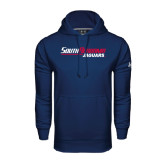 Under Armour Navy Performance Sweats Team Hoodie-South Alabama Jaguars