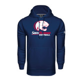 Under Armour Navy Performance Sweats Team Hood-Softball