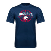 Performance Navy Tee-Jaguars Basketball In Ball