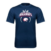 Performance Navy Tee-Jaguars Basketball Arched In Ball