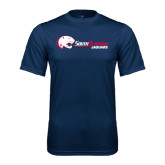 Performance Navy Tee-Jaguar Head w/ Flat Logo