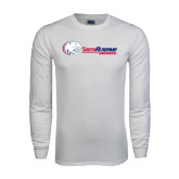 White Long Sleeve T Shirt-Jaguar Head w/ Flat Logo