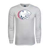 White Long Sleeve T Shirt-Jag Head Distressed