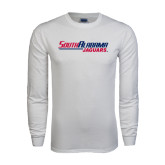 White Long Sleeve T Shirt-South Alabama Jaguars