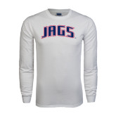 White Long Sleeve T Shirt-Jags Arched