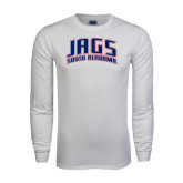 White Long Sleeve T Shirt-Jags South Alabama Arched