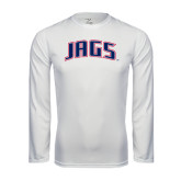 Performance White Longsleeve Shirt-Jags Arched