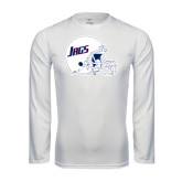 Performance White Longsleeve Shirt-Jags Helmet