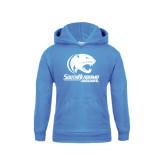 Youth Light Blue Fleece Hood-Official Logo
