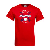 Red T Shirt-Jaguars Softball Seams