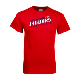 Red T Shirt-South Alabama Jaguars Basketball Slanted