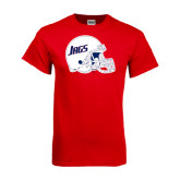Red T Shirt-Jags Helmet