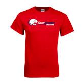 Red T Shirt-Jaguar Head w/ Flat Logo