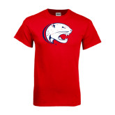 Red T Shirt-Jag Head Distressed