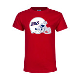 Youth Red T Shirt-Jags Helmet