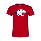Youth Red T Shirt-Jag Head Distressed