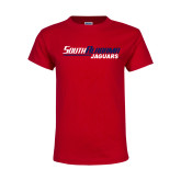 Youth Red T Shirt-South Alabama Jaguars