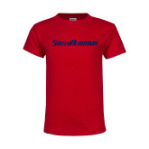 Youth Red T Shirt-South Alabama Flat Logo