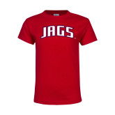 Youth Red T Shirt-Jags Arched