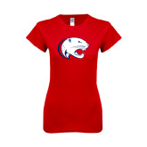 Next Level Ladies SoftStyle Junior Fitted Red Tee-Jag Head