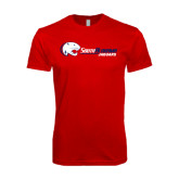 SoftStyle Red T Shirt-Jaguar Head w/ Flat Logo