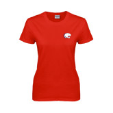 Ladies Red T Shirt-Jag Head